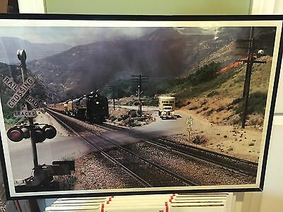 Union Pacific 8444 40's Stater Bros. Truck Daylight Special Route 66 Framed