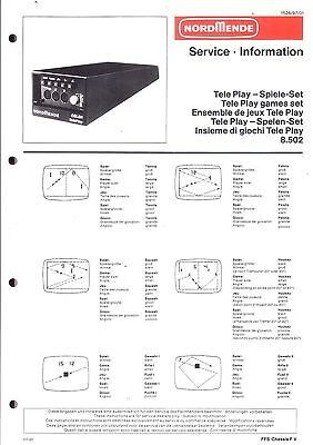 Nordmende Original Service Manual für Teleplay Tele Play Spiele-Set 8.502
