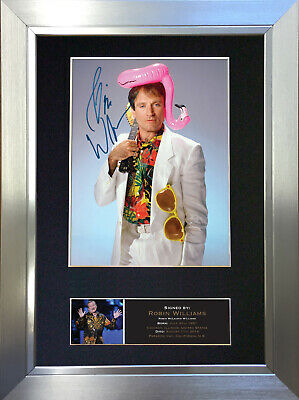 ROBIN WILLIAMS Memorial Signed Autograph Mounted Repro Photo A4 Print no505