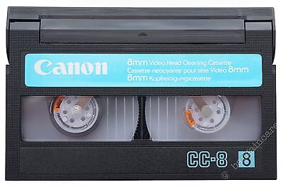Canon 8mm Hi8 Digital 8 Camcorder Video Head Cleaning Cassette Cleaner Tape [F7]