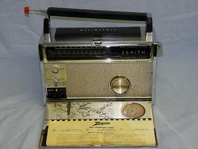 Zenith Trans-Oceanic ROYAL 3000-1 , All Transister Radio, Wavemagnet w/Booklet