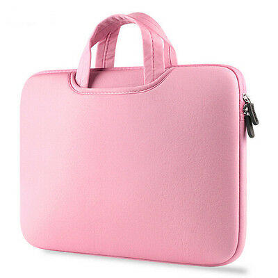 Notebook Laptop Sleeve Case Carry Bag Pouch Pink For 15.6 Inch