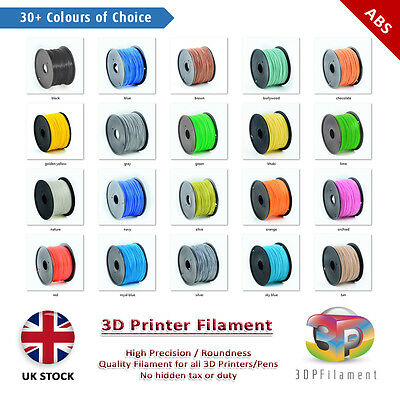 ABS 1.75mm 3D Pen Filament (5 metres) Premium 3D Printer Filament 30+ Colours