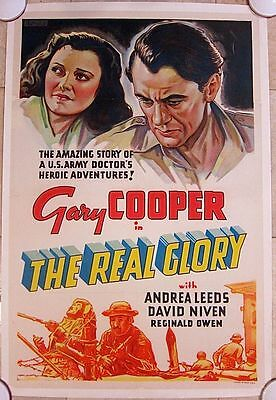 Reduced 70$$  The Real Glory 1939 Lb Other Company 1 Sh Poster Cooper & Nive