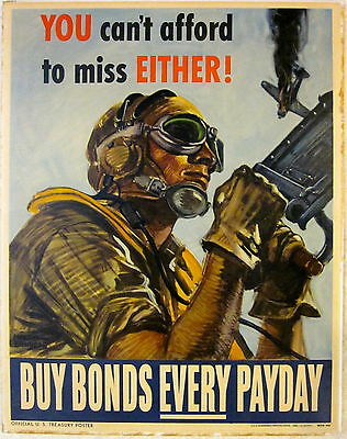 Price Cut 2X By165! Wwii Poster You Can't Afford To Miss Either! Buy Bonds