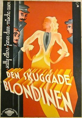 Reduced!! We Have Our Moments 1937 Swedish Poster - O. Aberg Rare Art Deco!!