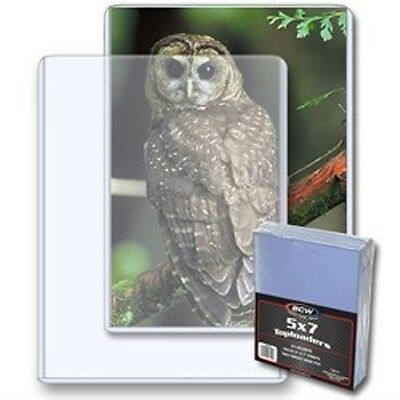 """Toploader 5""""x7"""" Photo Card Holder 25 Count Pack -NEW Case Top Loader PIcture BCW"""
