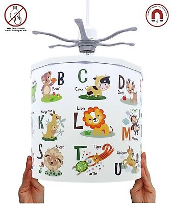 ABC Animals Lampshade + EREKI Magnetic Set for Touchless Bulb Changing Design