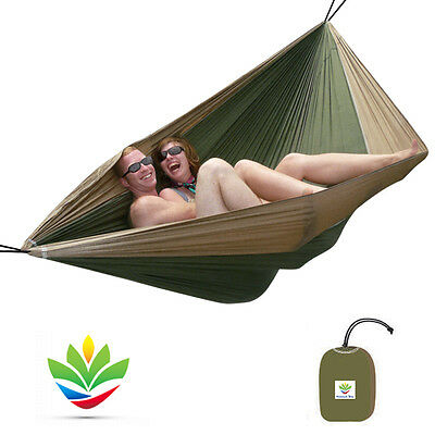 Hammock Bliss Double - Extra Large Portable Camping Hammock - 250 cm Rope P/Side
