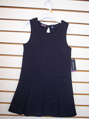 Girls Nautica $34 Navy Cotton Blend Uniform Dress Size 4 - 16