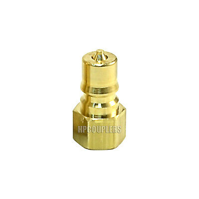"Foster FHK Series 1/4"" K2B Brass ISO B Hydraulic Quick Connect Coupler Plug USA"