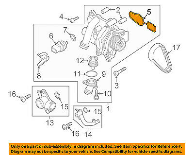 vw volkswagen oem 2009 jetta-engine water pump gasket 06j121119
