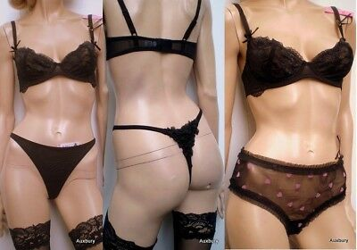 E et D S43087 luxoury chiffon comfort corset with matching panties