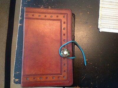 Vintage Leather Brown Notebook Cover/Documents Holder