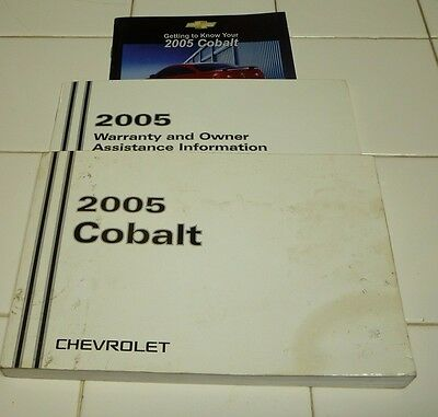 2005 chevrolet cobalt owners manual