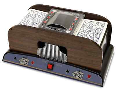 NEW Brybelly Two Deck Wooden Automatic Card Shuffler
