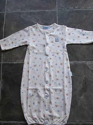 BNWNT Baby Boy's Le Bon Cotton Sleeping Bag/Sleep Sack/Long Nightie Size 000
