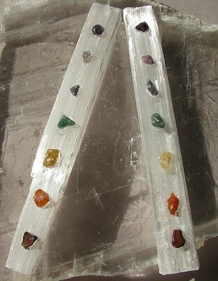 Selenite Chakra Healing Wands ~Programmed with Sacred Geometry ~Aligns
