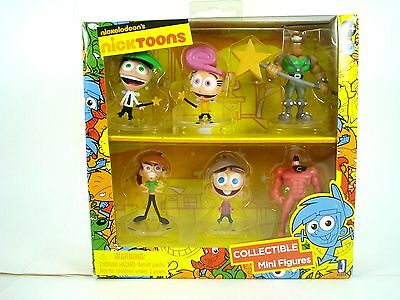 """Nicktoons Fairly Odd Parents Deluxe Collector Toys (6-Pack), 2"""" by Jazwares Dome"""