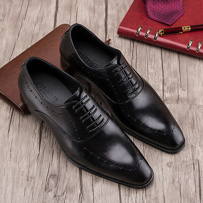 NEW Men/'s Cow Leather Shoes Dress//Formal Business W1818~2 Classic 5~12 37~45 HOT