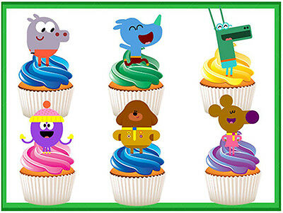 12 Stand Up Hey Duggee Edible Wafercard Cupcake Cake Decoration Images Toppers
