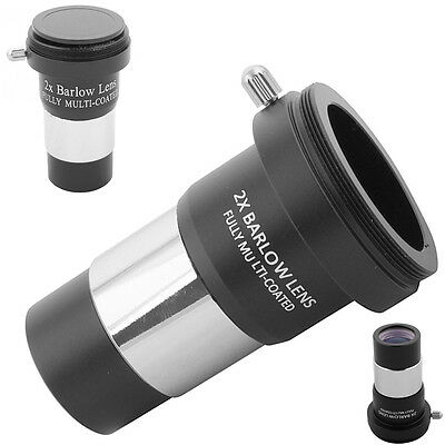 """1.25"""" inch 2X Barlow Lens Metal Multi-coated For Telescope Eyepiece Astronomy"""