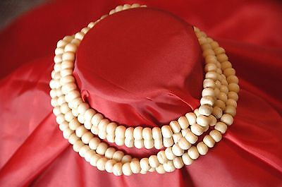 Old Tibetan Yak Bone Beaded Necklace …beautiful and elegant piece