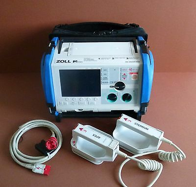 Zoll M Series Defib with Pacing Option+Pads Lead+Zoll Hard Paddles+Battery+Case