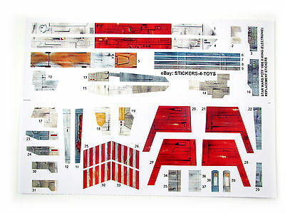 X-WING FIGHTER Electronic POTF 1995 Star Wars replacement Sticker set - xwing