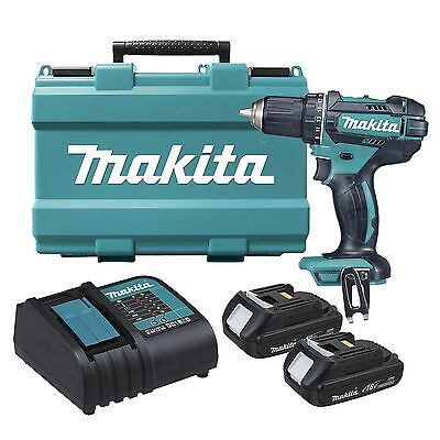 Makita CORDLESS DRILL DRIVER KIT 18V 2xBatteries +Charger + Carry Case DDF482SYE