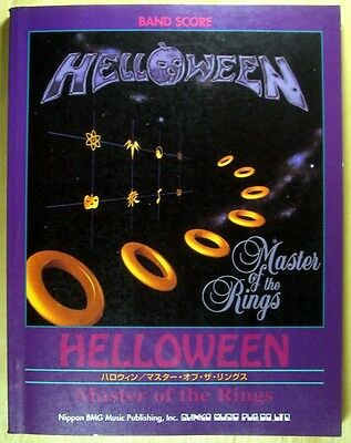 HELLOWEEN Master Of The Rings JAPAN BAND SCORE GUITAR TAB