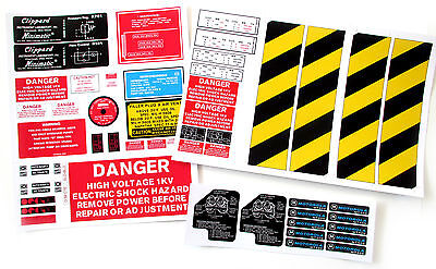 PROTON PACK , GHOST TRAP , Ecto Goggles and Motorola MT500 radio Sticker set