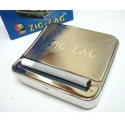 Automatic Cigarette Tobacco Roller Rolling Machine Box Metal 70mm ZIG ZAG case