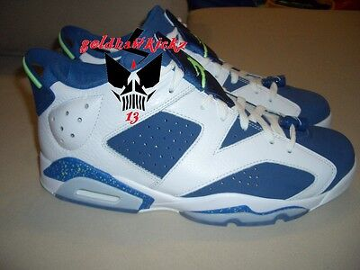 63b47258fa232e NIKE AIR JORDAN 6 VI Retro Low Ds SZ 14 SEATTLE SEAHAWKS Blue Ghost ...