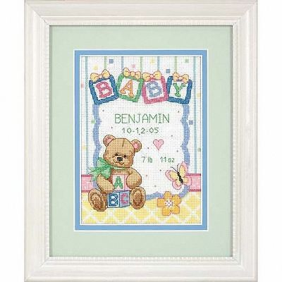 Dimensions Counted Cross Stitch Kit - Birth Record - Baby Blocks - D73049