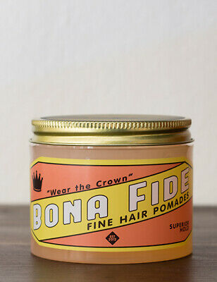 Bonafide Mens Deluxe Fine Hair Superior Hold Styling Pomade Barbershop 1oz