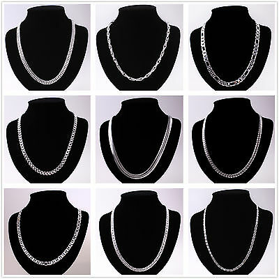 Hot Wholesale Silver Chain Ladies/Mens 925Silver Necklace Fit Pendant/Charm+Box
