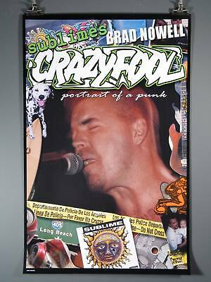 """""""Sublime"""" Crazy Fool, Bradley Nowell, Excellent Poster!"""