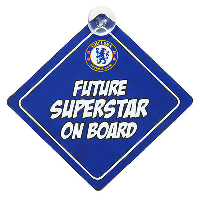 15fd808c6 Chelsea Fc Baby On Board Child Sign Car Accessories Window New Gift Xmas