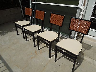 Set of 4 Beautiful Vintage Stakmore Wood Folding Chairs/Seats Mid Century