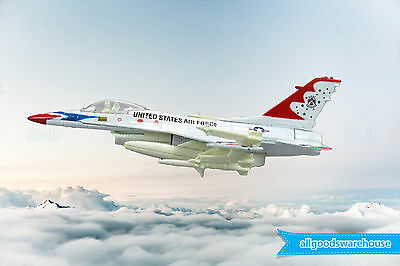 Lockheed Martin F-16 White Fighting Falcon 1:72 die-cast toy model jet aircraft