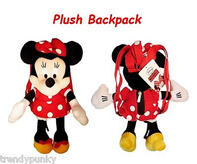 Disney Minnie Mouse Plush BACKPACK 17'' Mickey Boys Girls Licensed Toy Bag