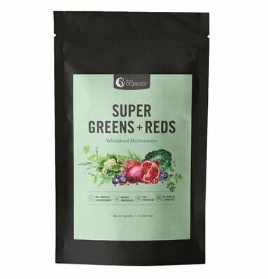 Nutra Organics Super Greens and Reds 1kg with Matcha