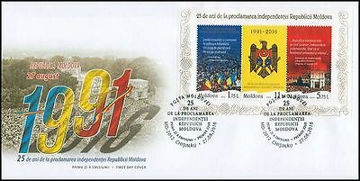 """Moldova 2016 """"Declaration of Independence 25th Anniversary"""" FDC"""
