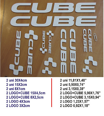 Adhesivo Pegatina Sticker Decal Aufkleber Autocollant Bike Bici Cube