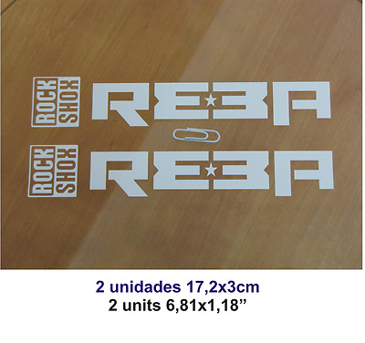 Adhesivo Pegatina Sticker Decal Aufkleber Autocollant Vinyl Bike Rock Shox Reba