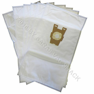6 Universal HEPA Cloth Bags for Kirby Vacuum F Style Avalir Sentria by DVC