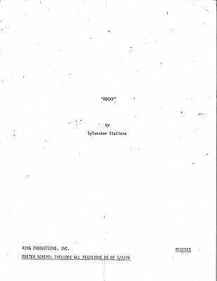 * ROCKY (1976) Master Script By Sylvester Stallone (With all Revisions 1/7/76)