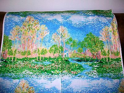Trees, Flowers, Sky & Water Cotton Quilt Fabric