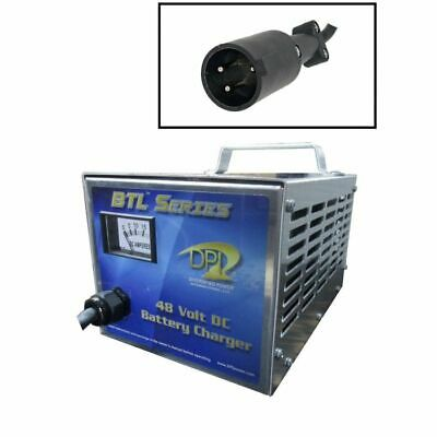 Club Car 48 Volt Golf Cart Battery Charger - Round 3 Pin Connector - DPI